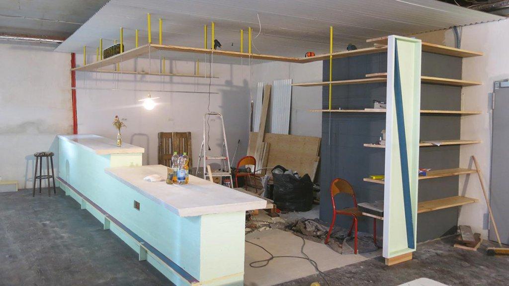 Küchen und Servicebereich im bau