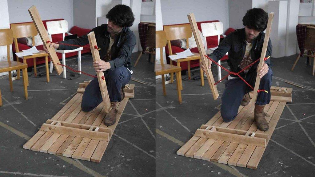 Aufbau des Tisches