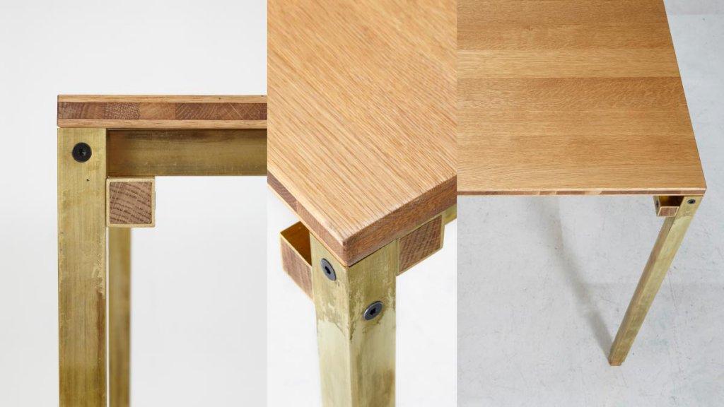 Details Eiche/Messing